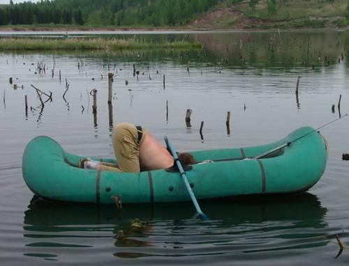 накачать сдуть лодку